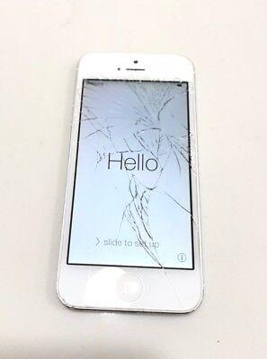 Apple iPhone 5 16GB White/Slate (Unlocked) A1428 GSM Crcked screen 100% Working comprar usado  Enviando para Brazil