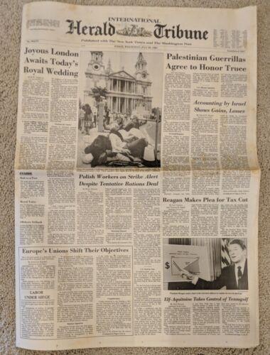 Herald Tribune Royal Wedding, July 29, 1981