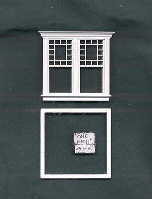Half Scale Single Window by Bespaq S704WOD Atherton style dollhouse miniature