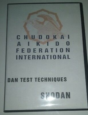 Chudokai Aikido Shodan Dan Test Techniques DVD Black Belt Instruction MMA Karate
