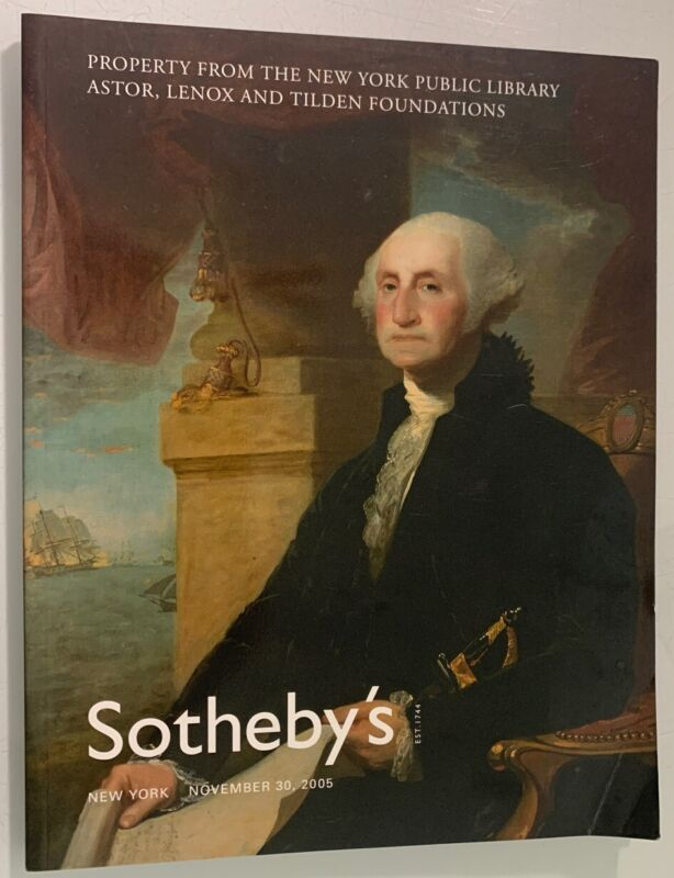 Auction Catalog: Sotheby's Astor, Lenox & Tilden Foundations New York 2005