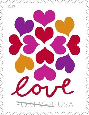 300 (15 x 20) USPS Forever Love Hearts Blossom Stamps First Class Ship From USA