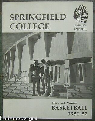 1981-82 Springfield College Men's and Women's Basketball Media (Springfield Man And Woman)