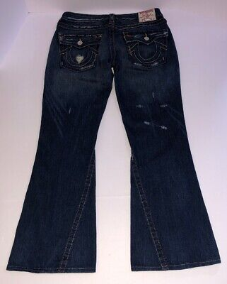 True Religion Flare Jeans (TRUE RELIGION Womens Jeans 30x29 Joey Distressed Flare Leg size Excellent Shape!)