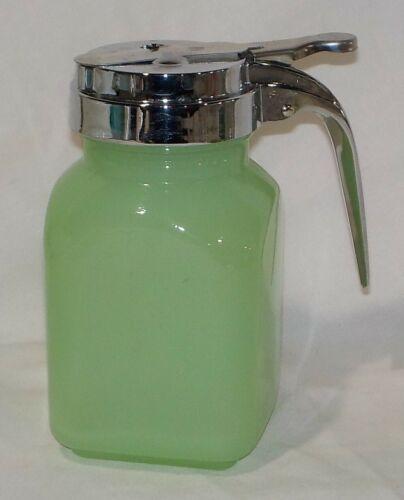 Jadite Jadeite Green Glass Syrup Dispenser Pitcher