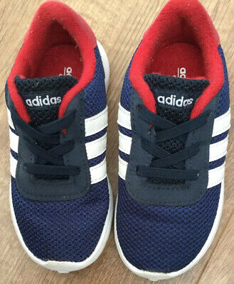 ADIDAS INFANT TRAINERS IN BLUE SIZE 7K GREAT CONDITION