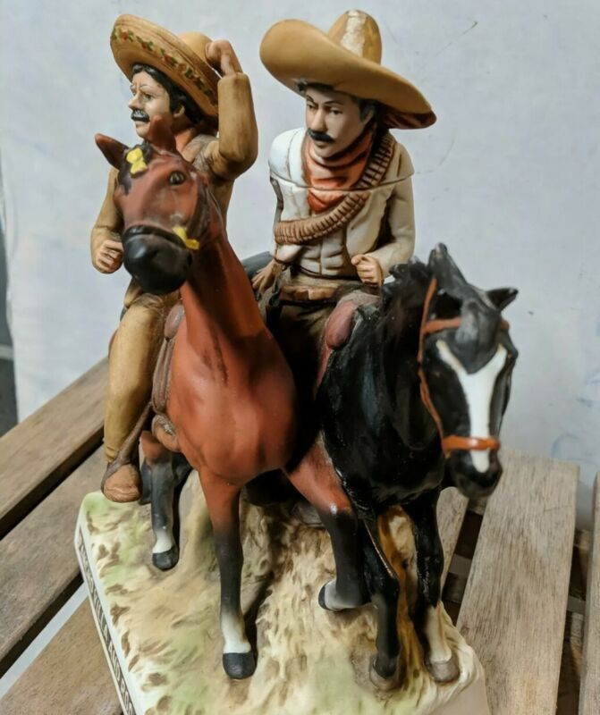 Collectible Vintage 1978 Pancho Villa And Rodolfo Fierro Tequila Decanter exclnt