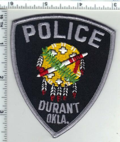 Durant Police (Oklahoma) Shoulder Patch from the 1980
