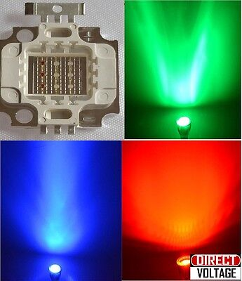 10pcs 10w Rgb Led High Power Chip. Red Green Blue - 10 Watt Lamp. Led Diy