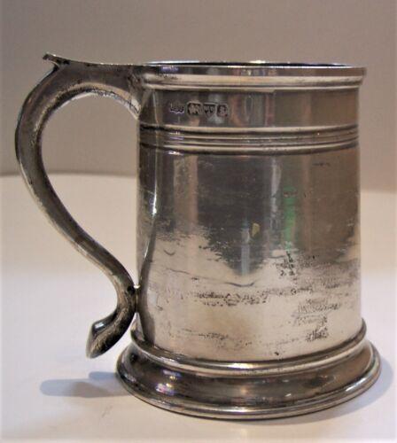 antique British Chester sterling silver hallmarked tankard 9.99oz Stokes Ireland