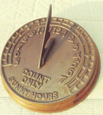 Vintage Virginia Metalcrafters? Sundial Garden Ornament Count Only Sunny Hours