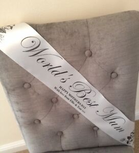 Personalised Mothers Day Vintage Style Elegant Sash Worlds Best Mum