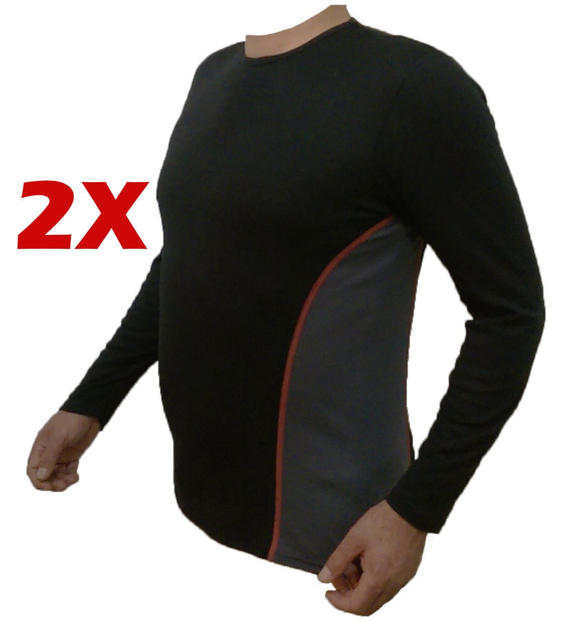 2 stk. lange  Unterhemd Herren Thermo Ski Unterwäsche  Funktionswäsche