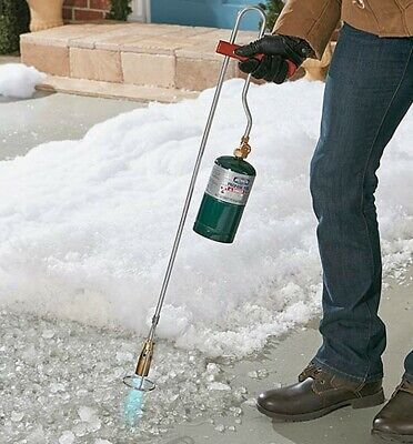 Ice Melt Driveways - WEED BURNER TORCH PROPANE ICE SNOW REMOVAL  DRIVEWAY SIDEWALK ROOF ASPHALT MELT