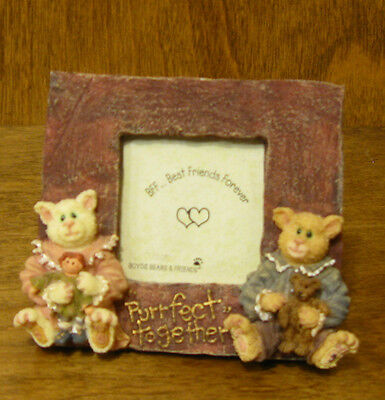 Boyds Frame #271600, Catarina & Sassy...Purrfect Friends, NIB, Purrstones CATS
