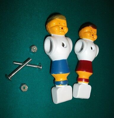 2 Two Replacement Foosball Fussball Men One Red Man One Blue Man