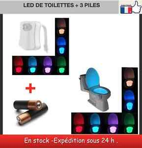 led d tecteur de mouvement 8 couleurs piles pour wc abattants wc lunettes ebay. Black Bedroom Furniture Sets. Home Design Ideas