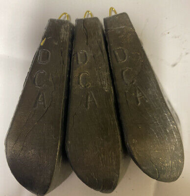 3 x 20 oz 1 3/4 Pound Dca Bo Pedo Boat / Sea Fishing Weights