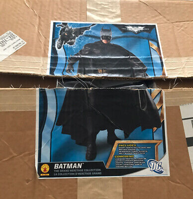 BATMAN Grand Heritage Costume Dark Knight Collector Adult Cosplay Fancy Suit, XL