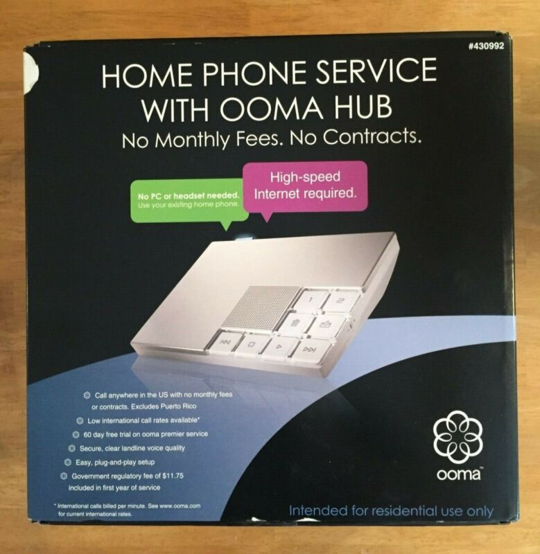 Ooma Hub Home Phone Service VOIP Great condition
