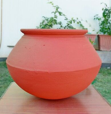 Earthen Clay Cooking Pot With Lid|Bowl|Handi|.5 L|1.5 L|4 L|9 Lt|Open Fire|Gas (Clay Lid)
