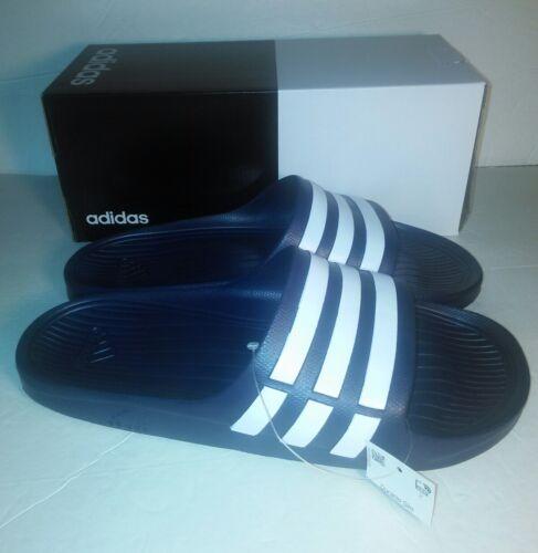 Adidas Durumo G15892 Navy White Slides Sandles Men Size 12