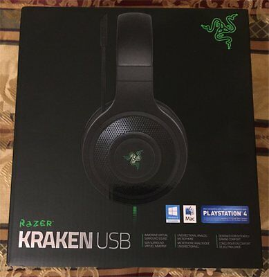 Razer Kraken USB Over Ear PC, PS4 - New (sealed) - Black / RZ04-01200100-R3U1