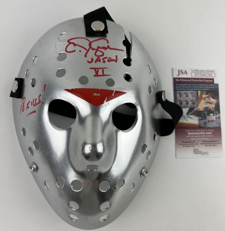 CJ GRAHAM signed JASON VOORHEES MASK Friday the 13th Part VI 6 Silver Chrome JSA