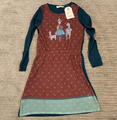 NWT European Boutique Long Sleeve Lama Dress Thanksgiving Fall Nice Things Mini