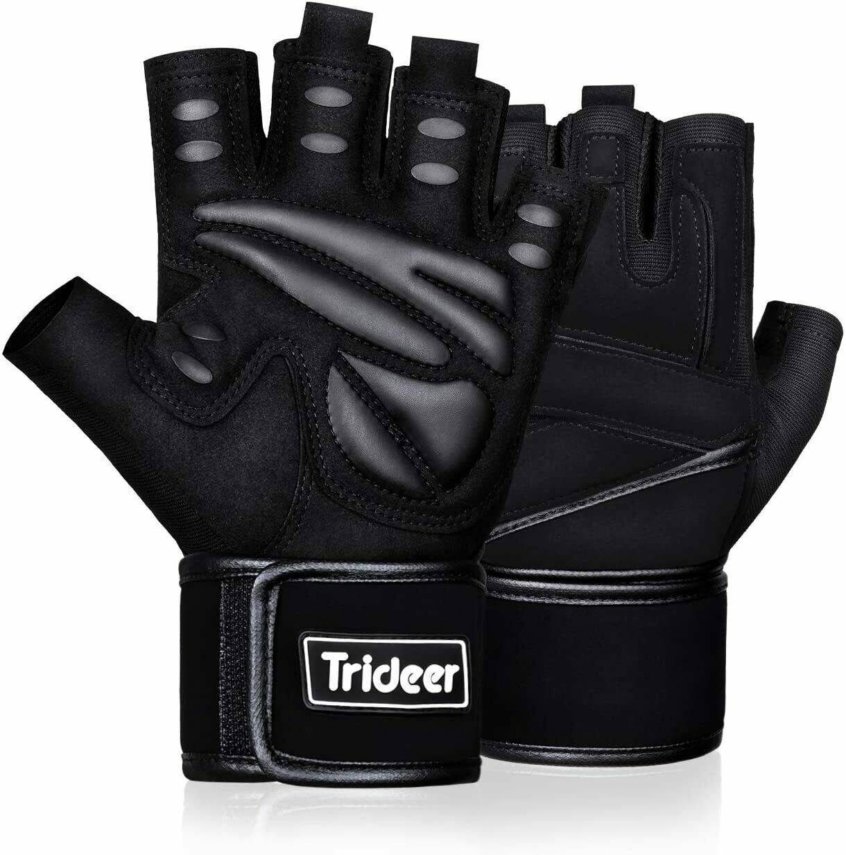 Trideer Padded Weight Lifting Gloves, Gym Gloves, Workout Gloves, Rowing Gloves