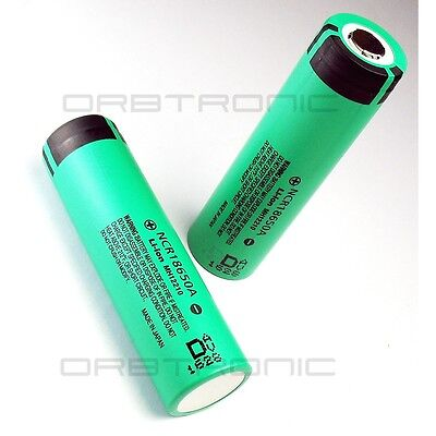 NEW 2X Panasonic 18650 3.6V 3100mAh Rechargeable Li-ion Battery, 2 NCR Batteries on Rummage