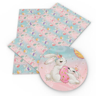 A4 Size Spring Easter Theme Printed Leather Fabric Sheet for Festival Decor - Themes For Weddings