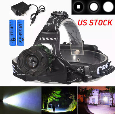 Coon Hunting Light Headlight LED 10000 Lumens 400,000+ LUX Headlamp rechargeable