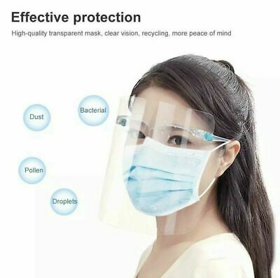 10 Complete Sets Face Shield Glasses Protector Spray Prevention Safe Face Mask