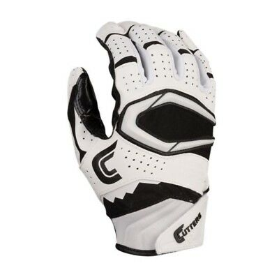 Cutters Mens Football Receiver Glove - Cutters Rev Pro 2.0 Football Receiver Glove Adult Mens Small Black / White