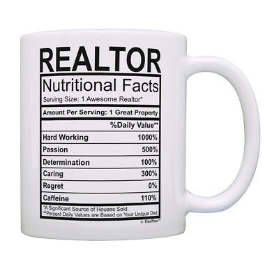 Realtor Gifts for Women Realtor Nutritional Facts Realtor Co