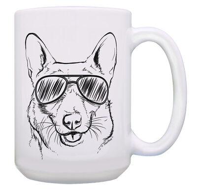 Dog Cup Funny Corgi Sunglasses Mug Cute Corgi Gift Corgi 15oz Coffee Mug Tea (Corgi Sunglasses)