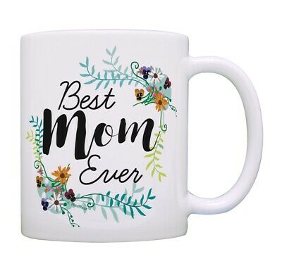 Best Mom Gifts Best Mom Ever Cup Floral Mothers Day Mug Mom Ceramic Coffee