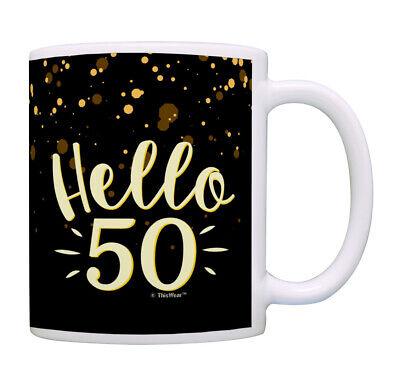 50th Birthday Cup Hello 50 Mug Birthday Gifts for Women Coff