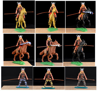 Timpo Swap-Type Vikings - 9 Spear at Waist - 54mm toy soldiers in 9 variations