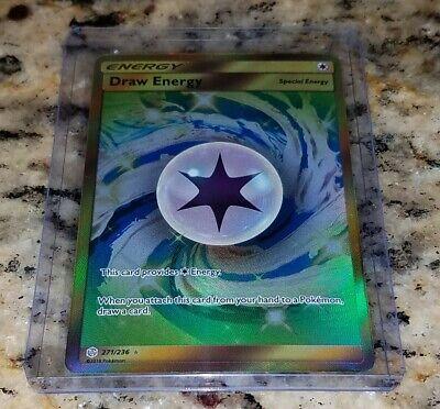 Pokemon Cosmic Eclipse DRAW ENERGY 271/236 Full Art Trainer Secret Rare Holo NM