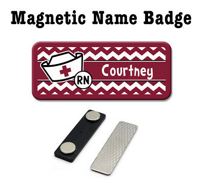 Chevron Nurse Hat Magnetic Name Badge, Magnetic Name -