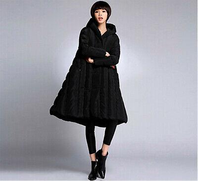 Abrigo parka cálido plumón mujer talla 54 negro
