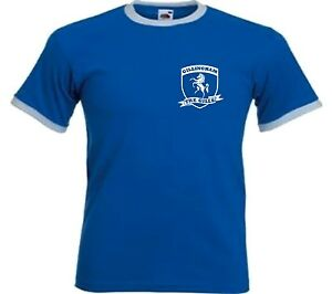 NEW-Gillingham-FC-The-Gills-Retro-Football-Club-T-shirt-All-Sizes-Available