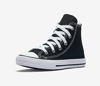 CONVERSE Chuck Taylor All Star Black White Hi Shoes Kids Boys Sneaker Children (Kids Chuck Taylor)
