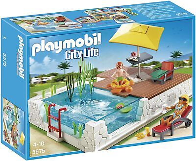 Playmobil 5575 City Life Luxury Mansion Swimming Pool with Terrace - BRAND NEW