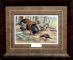 Cynthie Fisher Spring Strut Wild Turkey Print-Framed 21 x 17
