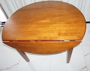 Norfolk Round Timber Dining Table With Drop Leaf Sides Dining