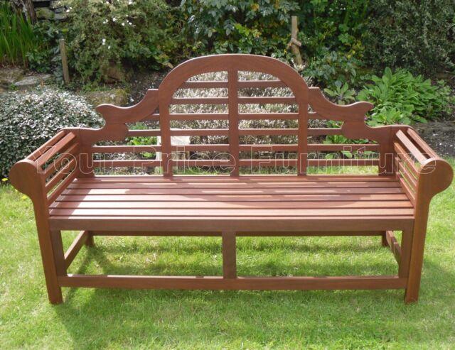Large 6ft Hardwood Garden Bench 180cms Lutyens Marlborough Style Free Delivery