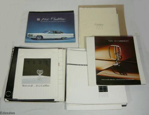 Lot of 1966-1997 Cadillac Sales Brochures vintage car advertising